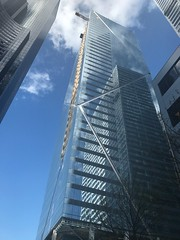 The Mark (~ypf) Tags: friday blue reflection feelingsmall up clouds light april construction city lines spring weather sky glass transparency 2017 downtown seattle future building