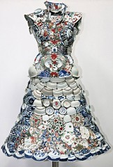 Porcelain Dress by Li Xiaofeng - Made of shards of porcelain painstakingly pieced together. (Symphony in White) Tags: porcelain porcelaindress porcelainshards shards porcelainpieces lixiaofeng contemporaryporcelain