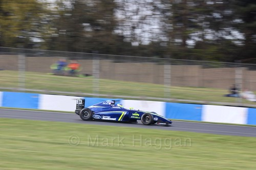 Logan Sargeant in British F4 Race Two during the BTCC Weekend at Donington Park 2017: Saturday, 15th April
