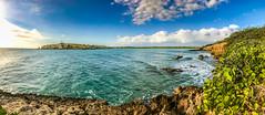 El Faro Los Morrillos, Cabo Rojo, Puerto Rico (carlos_f_guerra) Tags: navidades puertorico 2016 iphone7 panorama vacation lighthouse faro ocean water beach cliffs