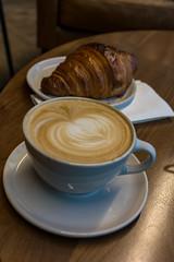 Coffee & Croissant (javajoba) Tags: atlanta jackkennard nikond3100 revelatorcoffeecompany coffeeart coffeeshop croissant latte latteart midtown westside ga usa