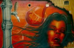 The beer tap (portalealba) Tags: zaragoza grafiti portalealba pentax pentaxk50 streetart mural buildingart
