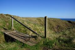 Broken Bridge (steve_whitmarsh) Tags: crudenbay aberdeenshire scotland cliff bridge fence