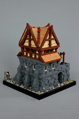 Proudspire Manor (soccersnyderi) Tags: lego moc creation medieval street scene skryim model proudspire manor house window roof wall technique stone texture design method wood tudor cobblestone
