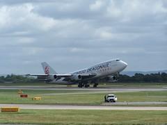B-KAC (IndiaEcho) Tags: bkac dragonair cargo frieght boeing 747300 manchester international airport airfield egcc man england cheshire aircraft aeroplane avaition airliner