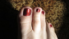 China Glaze | Foxy (markrudolph203) Tags: china glaze foxy male guy dude toe toes nail nails brown cute short gay homosexual