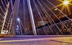 Hungerford Bridge (maurizio.merico) Tags: london tamigi thames river night ohhh light reflection great britain europe england bridge ponte golden jubilee bridges