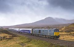 73967 Corrour 21/04/2017 (Waddo's World of Railways) Tags: 73967 73 967 corrour 1y11 ed rail railway highlands scotland class73 westhighlandline 1y11corrour corroursummit beds sleeper