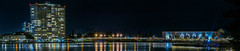 boulevard bridge (pbo31) Tags: eastbay alamedacounty nikon d810 color night dark april 2017 spring boury pbo31 bayarea california oakland black lakemerritt reflections skyline downtown city urban lake panoramic large stitched panorama structure conventioncenter apartment building lakeside lakewide