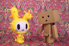 Are you the Easter Bunny?? (partymonstrrrr) Tags: rabbit bunny easter toy toys robot box vinyl mini cardboard figure truffle tokidoki yotsuba danbo simonelegno revoltech danboard