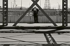Isosceles (JeffStewartPhotos) Tags: bridge blackandwhite bw paul blackwhite triangle flickr photowalk toned queenstreet henman tenyears tenthanniversary isosceles 10years 10thanniversary torontophotowalk topw queenstreetbridge paulhenman queenstreetviaduct torontophotowalks flickr10photowalk topwflickr10
