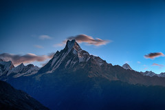 Early Sunrise View over the Annapurna mountain range, Poon Hill Trek, Nepal (CamelKW) Tags: nepal sunrise trekking annapurna himalayas poonhill ghorepani poonhilltrek himalayastrekking sunriseinthehimalayas ghorepanipoonhilltrek mountainpeaksinnepal