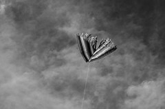 Untitled (silverdragonia) Tags: sky blackandwhite kite art clouds photography nikon d5100 artistsontumblr