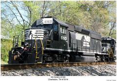 NS SD40-2 6160 (Robert W. Thomson) Tags: railroad train diesel ns tennessee railway trains charleston locomotive trainengine norfolksouthern emd sd402 sd40 sixaxle