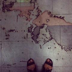 World Mapping - แผนที่โลกในลิฟท์ที่คณะศิลปะและการออกแบบ