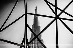 Burj Khalifa, Dubai, United Arab Emirates (Seven Seconds Before Sunrise) Tags: travel bw architecture asia dubai uae middleeast unitedarabemirates myuae burjkhalifa mydubai