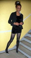 Ten Tight 1 (Lisa/Anders - Ninja Transvestit Danmark) Tags: man black male high highheels dress legs feminine crossdressing tgirl short tranny transvestite heels tight trans ebony stilettos ladyboy mand mulatto transvestit mulat