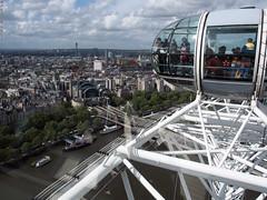 NE (peterphotographic) Tags: city uk england urban london cityscape britain londoneye olympus aerial southbank southlondon charingcross microfourthirds olympusepl5 epl5 p4261026edwm