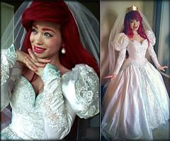 Ariel wedding dress (i love disney1) Tags: ariel disney thelittlemermaid disneyprincesses thelittlemermaidcosplay arielcosplay