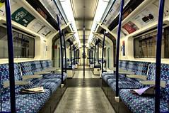 Brixton (Nick.Richards) Tags: london train underground newspaper nikon carriage metro empty tube strike brixton tfl lul victorialine visitlondon
