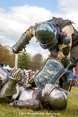[2014-04-19@15.13.07a] (Untempered Photography) Tags: history costume fight helmet battle medieval weapon sword knight shield combat armour reenactment champions skirmish combatant chainmail canonef50mmf14 perioddress buckler platearmour gambeson mailarmour untemperedeye canoneos5dmkiii untemperedeyephotography glastonburymedievalfayre2014