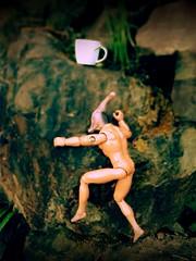 Day 118 of 365 - Inspiration (sluggoman) Tags: coffee dinosaur ken barbie starbucks coffeemug 365days 365daysproject dinobarbie