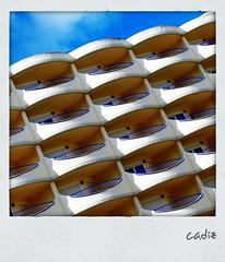 Balconies In Cadiz (hellwi) Tags: building square polaroid spain frame cadiz balconies gebude rahmen spanien balkone quadratisch hellwi freizeitknipser