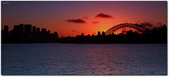 Sublime ('Mick's Pics') Tags: bridge silhouette skyline clouds canon twilight flickr harbour sydney australia national geographic sydneyharbour nationalgeographic sydneyharbourbridge cremornepoint canonphotography mickspics