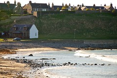 Better Be Home Soon (4oClock) Tags: homes house beach sunshine honda easter bay coast scotland spring sand nikon rocks aberdeenshire weekend north scottish shore april caravan nikkor dslr links moray 18105 d90 portsoy banffshire