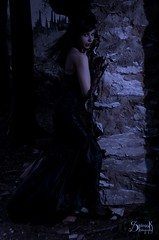 Goth Lady Vampire ft. Georgia: at the ruins (SpirosK photography) Tags: portrait lady night dark georgia outdoors ruins vampire teeth gothic goth athens greece angry bite hungry vamp imittos kesariani   jenniferray