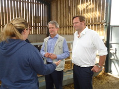 "Stephen Mosley MP and Owen Paterson visiting dairy farmers in Chester • <a style=""font-size:0.8em;"" href=""http://www.flickr.com/photos/51035458@N07/14218050342/"" target=""_blank"">View on Flickr</a>"