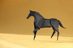Origami Horse by Hideo Komatsu (ronatka) Tags: horse origami hideokomatsu tissuefoilpaper origamishopcom