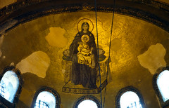 Apse mosaic (close), Hagia Sophia
