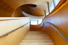 Spiraling Ascent (Jonathan R.S.) Tags: wood toronto ontario canada art architecture stairs frank spiral design chinatown gallery steps gehry ago