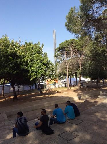 Students near the Obelisk
