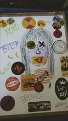 My notebook (natalivitria) Tags: wild brazil art girl brasil notebook book cool badass bitch draw xoxo vsco