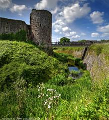 Moat at White Castle (scenewales.co.uk) Tags: uk copyright white castle nikon m drawbridge moat hdr gatehouse d600 vertorama barradine scenewales