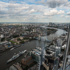 The Thames snakes off to the Channel (Keith_Prefect) Tags: bridge reflection building london tower glass june thames high view hmsbelfast ants tall shard toweroflondon 2014 theshard nikond800 viewfromtheshard