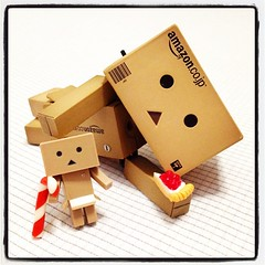 ~ (TURBOW) Tags: square toy lofi squareformat figure danbo danboard iphoneography instagramapp uploaded:by=instagram