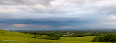 Panorama in Sussex Rain (Nick Dautlich) Tags: uk england panorama rain clouds landscape sussex countryside pano hills landscapeuk