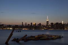 NYC (delmark joseph) Tags: nyc longexposure sunset ny newyork manhattan midtown empirestatebuilding