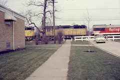 19671199 02 CB&Q CGI train @ Riverside (davidwilson1949) Tags: railroad train illinois riverside unionpacific cbq