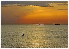 Sunset (abac077) Tags: sunset sea mer france channel 62 manche pasdecalais