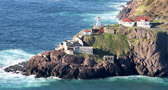 View of Fort Amherst and Lighthouse from Signal Hill (gourab66) Tags: travel canada canon newfoundland landscape stjohns fortamherst canon24105mmf4l canon60d