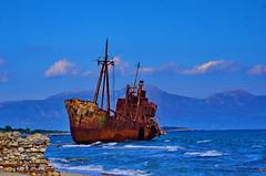 Γύθειο Λακωνίας Grèce Péloponnèse, un cargo échoué sur la plage près de Githio 10 (paspog) Tags: greece wreck griechenland grèce argo épave péloponnèse beachedboat githio γύθειο λακωνίασ cargoéchoué