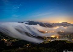 The Fog Rolls In (Eric Zumstein) Tags: piuma fog mountains clouds stars santamonicamountains malibu losangeles california bestcapturesaoi elitegalleryaoi aoi