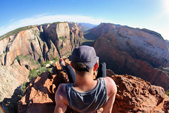 TD (α RAINYNEPTUNUS ω) Tags: sunset cliff rock canon utah sandstone desert cliffs zion zionnationalpark redrock monolith zioncanyon sunglow desertlife desertrocks utahsummer