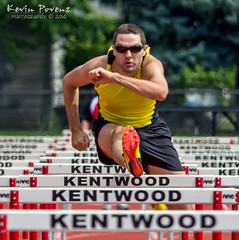 Hurdles (Kevin Povenz) Tags: red sport june yellow jump michigan competition run athlete meijer trackandfield 2014 westmichigan kentwood kentcounty stategamesofmichigan meijerstategamesofmichigan kevinpovenz