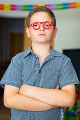 #76 (ekidreki) Tags: boy portrait guy project 50mm glasses nikon little bokeh brother retro 365 nikkor 50 d610