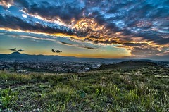 Sunset Puy de Crouel (JbGinioux) Tags: city light sunset wild summer sky franc